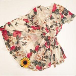 NWT Show Me Your MuMu Lady Rose wrap dress M